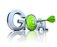 Goal and dart Royalty Free Stock Image