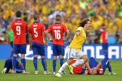 Goal David Luiz  Coupe du Monde 2014 Stock Photos