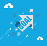 Goal destination arrows illustration concept Royalty Free Stock Photography