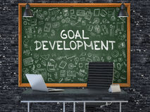 Goal Development Concept. Doodle Icons on Chalkboard. Stock Photography