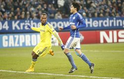Goal Didier Drogba FC Schalke v FC Chelsea 8eme Final Champion League Stock Image