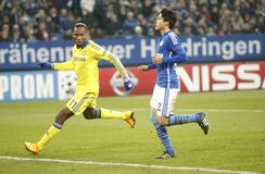 Goal Didier Drogba FC Schalke v FC Chelsea 8eme Final Champion League Royalty Free Stock Photo