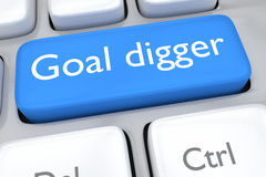Goal digger concept Stock Photos