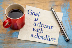 Goal is a dream with deadline Royalty Free Stock Photography