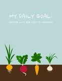 Daily goal: Eating lots and lots of veggies Stock Photos