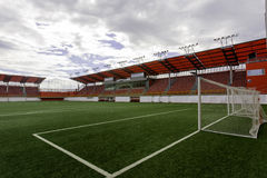 Goal. Empty arena stadion for sports games soccer Stock Photo