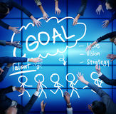 Goal Expectation Target Mission Aim Concept Stock Photo