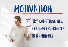 Goal Explore Aim Ambition Inspire Concept stock photo