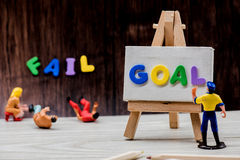 Goal and fail Stock Photos