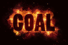 Goal fire text flame flames burn burning hot explosion Royalty Free Stock Photo