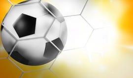 Goal - Football Background Ball 3D Design Stock Photo
