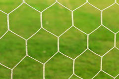Goal football background The bright green grass. Goal football wallpaper The bright green grass Stock Photography