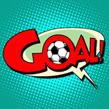 Goal football comic style text Royalty Free Stock Photos