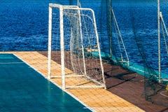 Goal of football feild Stock Image