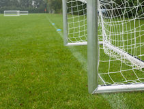 Goal and football field Stock Image
