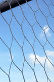 Goal football - soccer nets with blue sky Royalty Free Stock Photos