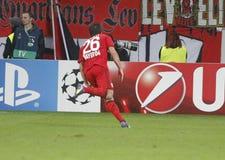 Goal Giulio Donati  Bayer 04 Leverkusen v Zénith Saint-Pétersbourg Champion League Royalty Free Stock Photos