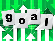 Goal Goals Represents Inspiration Objective And Aspire. Goal Goals Indicating Aspire Aspiration And Targeting stock illustration