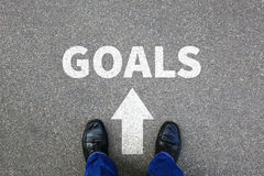 Goal goals setting success new aspirations strategy future businessman business concept stock photography