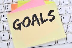 Goal goals to success aspirations and growth business concept no stock image