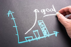 Goal by graph Stock Images