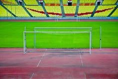 Goal on the grass. Stock Photos