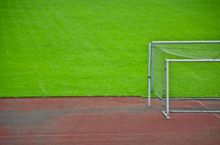 Goal on the grass. Royalty Free Stock Image