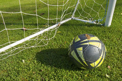 Goal in the green. A great view of Goal in the green Stock Image