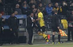 Goal Guillaume Hoarau Young Boys Berne v FC Naples Liga Europa Royalty Free Stock Image