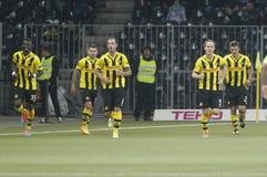 Goal Guillaume Hoarau Young Boys Berne v FC Naples Liga Europa Royalty Free Stock Images