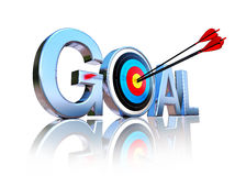 Goal icon Royalty Free Stock Image