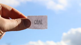 Goal idea, tag with inscription stock video