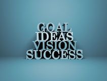 Goal Ideas Vision Success Royalty Free Stock Photo