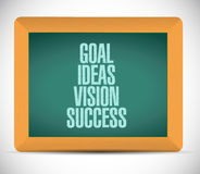 Goal, ideas, vision, success blackboard Stock Image