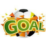 Goal  illustration Royalty Free Stock Photo