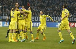 Goal John Terry FC Schalke v FC Chelsea 8eme Final Champion League Stock Image