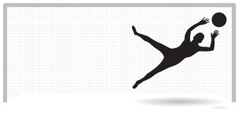 Goal keeper Stock Image