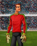 The goal keeper Stock Image
