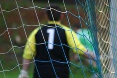 Goal keeper #2. Soccer - Football Goal Keeper Making Diving Save stock photos