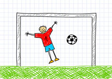 Goal-keeper Royalty Free Stock Images