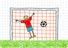 Goal-keeper Stock Photography