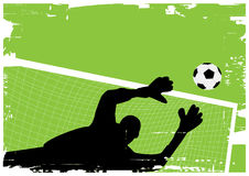 Goal keeper stock illustration