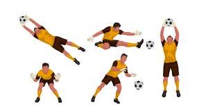 Goal keeper set Stock Photos