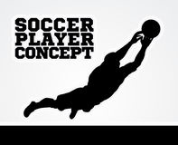 Goal Keeper Soccer Player Concept Royalty Free Stock Images