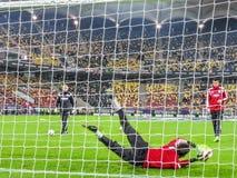 Goal-keeper van Roemenië training Stock Foto