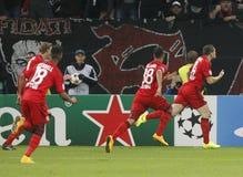 Goal Kyriákos Papadópoulos  Bayer 04 Leverkusen v Zénith Saint-Pétersbourg Champion League Royalty Free Stock Image