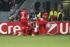 Goal Kyriákos Papadópoulos  Bayer 04 Leverkusen v Zénith Saint-Pétersbourg Champion League Stock Images