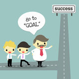 Goal and leader Royalty Free Stock Photos