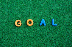 Goal letter message Stock Photos