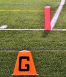 Goal Line on American Football Field Royalty Free Stock Photos